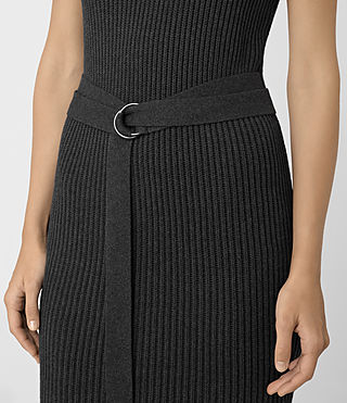 Womens East Dress (Charcoal Grey) - product_image_alt_text_3