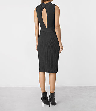 Womens East Dress (Charcoal Grey) - product_image_alt_text_4