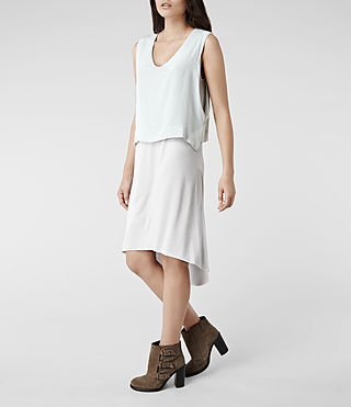 Womens Tella Dress (Ice/Stone)
