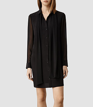 Womens Reese Dress (Black/Black)