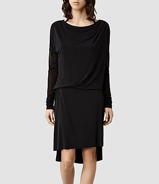 Womens Rubia Dress (Black/Black)