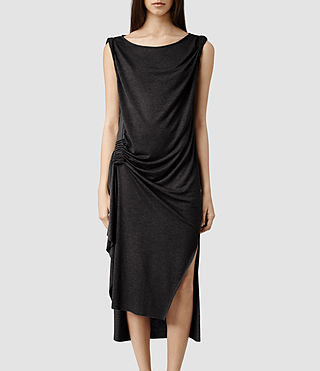Womens Flores Dress (Cinder Marl)