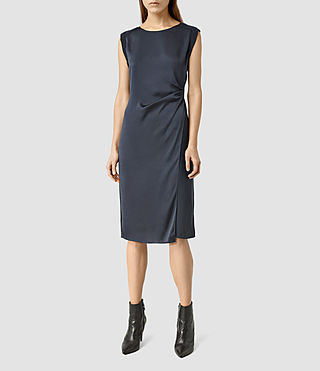 Womens Cecil Short Dress (Ink Blue)