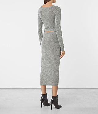 Damen Sade Dress (LIGHT GREY/BLACK) - product_image_alt_text_4