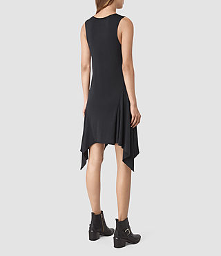 Womens Tany Dress (Midnight Blue/Blk) - product_image_alt_text_4