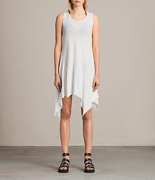 Womens 타니 드레스 (SMOG WHITE) - product_image_alt_text_1