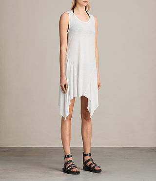 Womens 타니 드레스 (SMOG WHITE) - product_image_alt_text_3