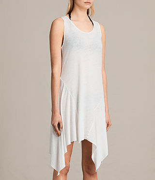 Womens 타니 드레스 (SMOG WHITE) - product_image_alt_text_4