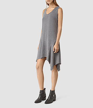 Womens Tany Dress (COAL BLACK/ASH GRY) - product_image_alt_text_1
