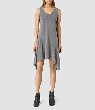 Womens Tany Dress (COAL BLACK/ASH GRY) - product_image_alt_text_3