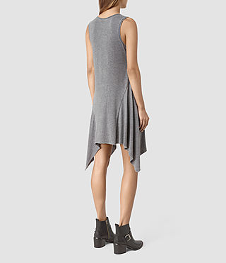 Womens Tany Dress (COAL BLACK/ASH GRY) - product_image_alt_text_4
