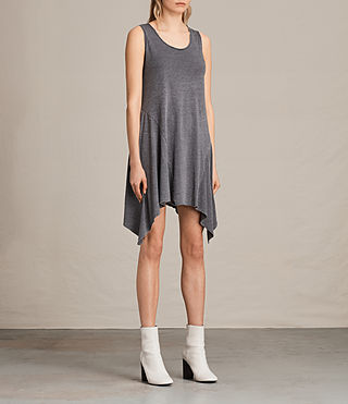 Women's Tany Dress (COAL GREY) - product_image_alt_text_3