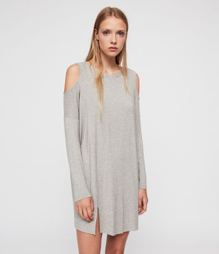 Womens Esther Dress (Smoke Grey Marl) - product_image_alt_text_1