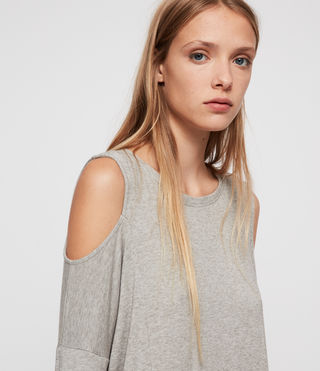 Mujer Esther Dress (Smoke Grey Marl) - product_image_alt_text_2
