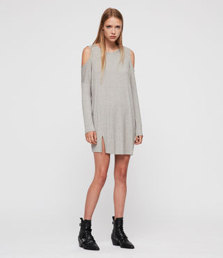 Womens Esther Dress (Smoke Grey Marl) - product_image_alt_text_3