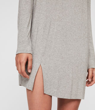 Mujer Esther Dress (Smoke Grey Marl) - product_image_alt_text_5