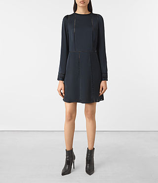 Womens Frieda Dress (Ink Blue)