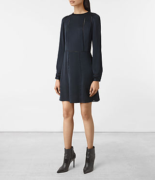 Femmes Frieda Dress (Ink Blue) - product_image_alt_text_3