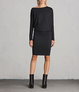 Femmes Robe Fri (Dark Grey Marl) - Image 1