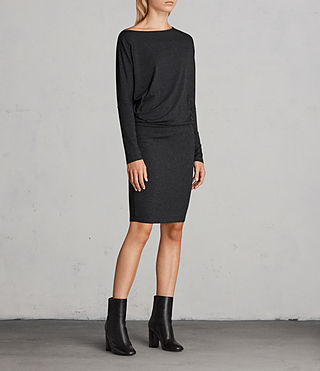 Femmes Robe Fri (Dark Grey Marl) - Image 3
