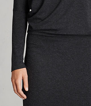 Femmes Robe Fri (Dark Grey Marl) - Image 5