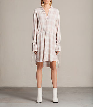 Women's Florence Shirt Dress (Pink Check) -