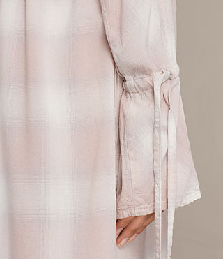 Women's Florence Shirt Dress (Pink Check) - product_image_alt_text_2