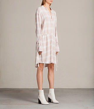 Women's Florence Shirt Dress (Pink Check) - product_image_alt_text_3
