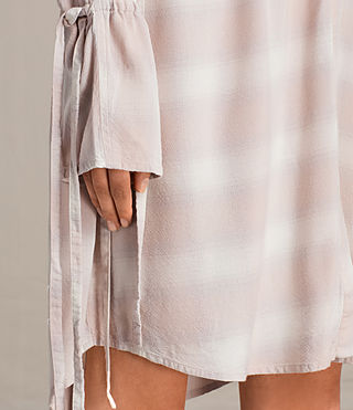 Mujer Florence Shirt Dress (Pink Check) - product_image_alt_text_5