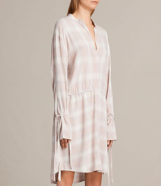 Women's Florence Shirt Dress (Pink Check) - product_image_alt_text_6