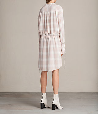 Women's Florence Shirt Dress (Pink Check) - product_image_alt_text_7