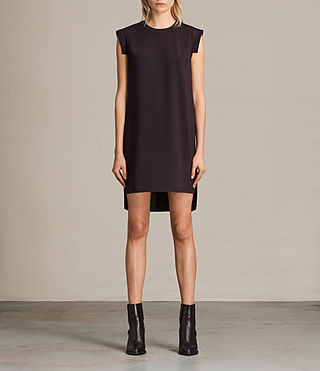 Damen Tonya Stitch Dress (Maroon)