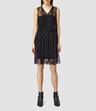 Womens Lara Dress (Black/MidnightBlue)