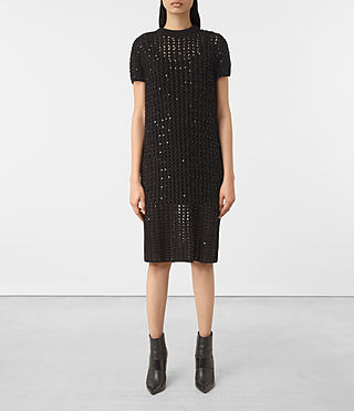 Mujer Alyse Embellished Dress (Black) - product_image_alt_text_1