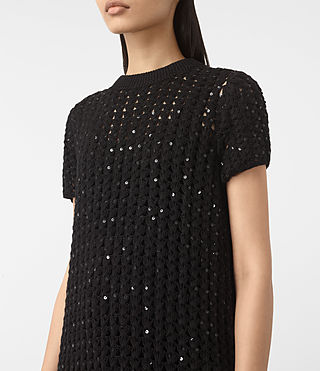 Mujer Alyse Embellished Dress (Black) - product_image_alt_text_2