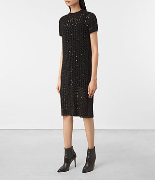 Mujer Alyse Embellished Dress (Black) - product_image_alt_text_3