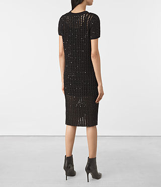 Mujer Alyse Embellished Dress (Black) - product_image_alt_text_4