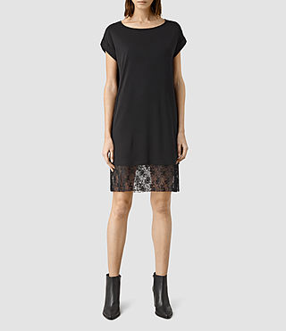 Womens Lara Tee Dress (Black)