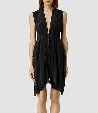 Femmes Lewis Lew Silk Dress (Black)