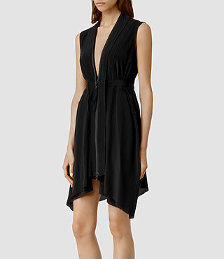 Mujer Lewis Lew Silk Dress (Black) - product_image_alt_text_2