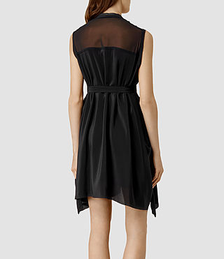 Mujer Lewis Lew Silk Dress (Black) - product_image_alt_text_3