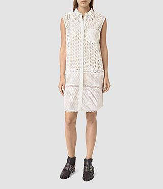 Damen Elsa Shirt Dress (Chalk White)