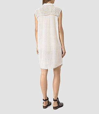Women's Elsa Shirt Dress (Chalk White) - product_image_alt_text_4