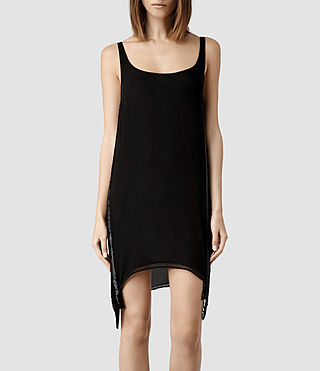 Womens Acalia Dress (Jet Black)