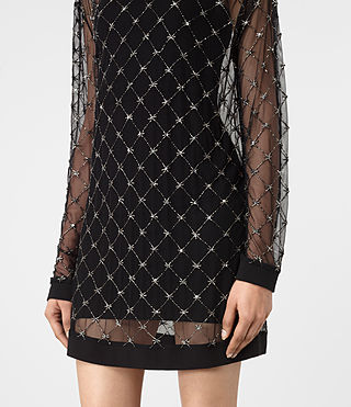 Damen Wire Embellished Dress (Black) - product_image_alt_text_4