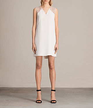 Womens Prism Dress (OYSTER WHITE) - product_image_alt_text_1