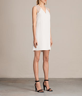 Womens Prism Dress (OYSTER WHITE) - product_image_alt_text_3