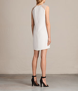 Womens Prism Dress (OYSTER WHITE) - product_image_alt_text_7