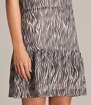 Womens Marley Zebra Dress (OYSTER WHITE/BLACK) - Image 2
