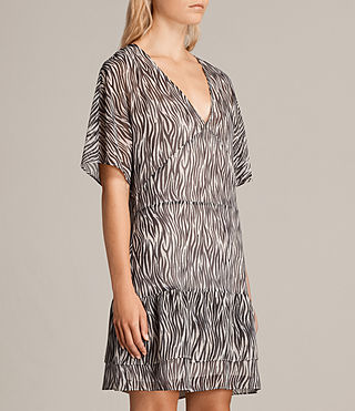 Womens Marley Zebra Dress (OYSTER WHITE/BLACK) - Image 4
